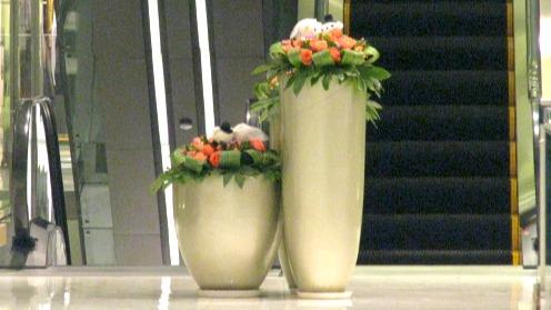 如何选购合适的玻璃钢花盆商业美陈?
