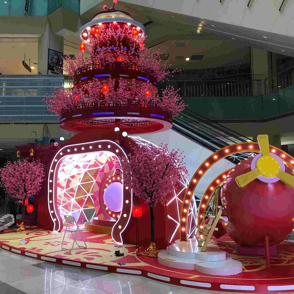 凯德圣诞节装饰 圣诞树 装置