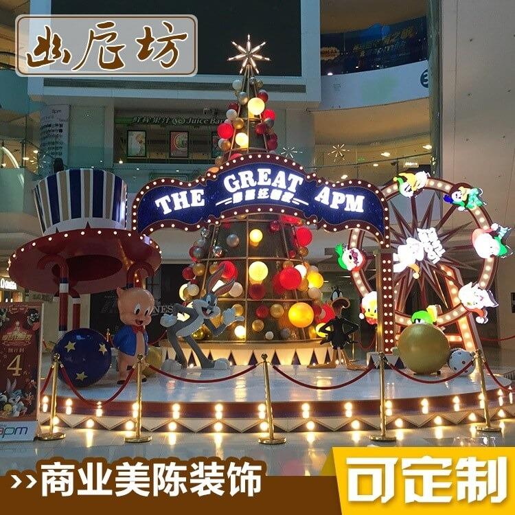 圣诞节主题雕塑商业美陈